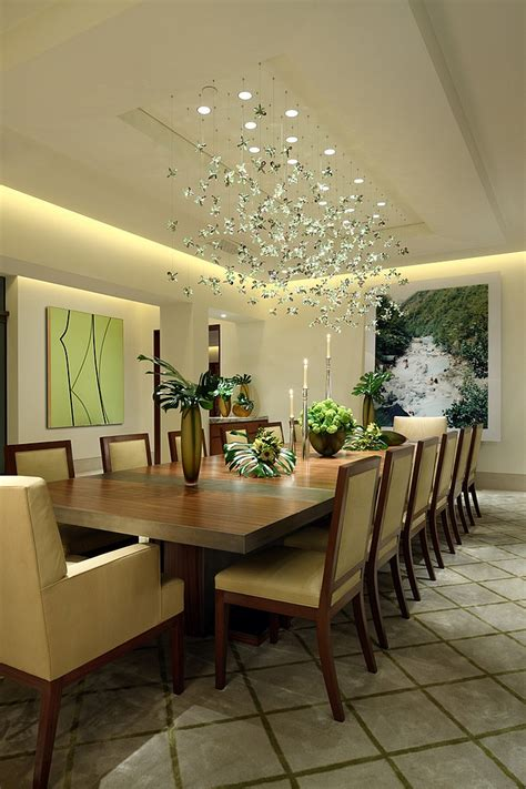 Dining Room Lighting Design How To Use Green To Create A Fabulous Dining Room