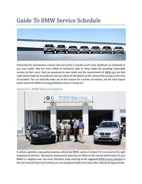 Bmw Service Schedule by Guide To Bmw Service Schedule By Brett Michael Williams