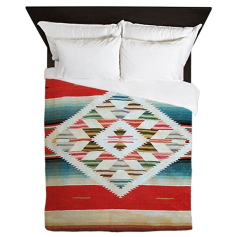 serape bedding vintage red mexican serape queen duvet by admin cp1903001