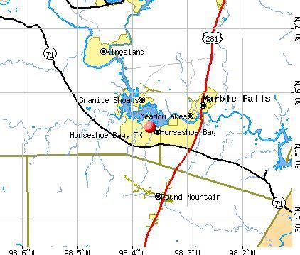 map of horseshoe bay horseshoe bay tx 78654 profile population maps