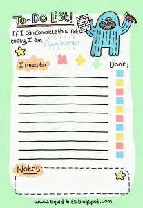squid bits to do list