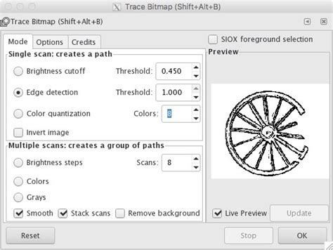 inkscape tutorial trace bitmap tutorial makercave