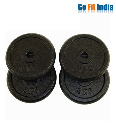 gofitindia 20 kg rubber weight plates for home 5 kg
