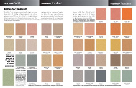color schemes all 2 color schemes are based off these 15 concrete color selector capps construction concrete
