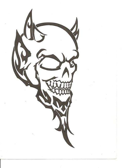 tribal demon tattoo tribal by thefuzzydude on deviantart