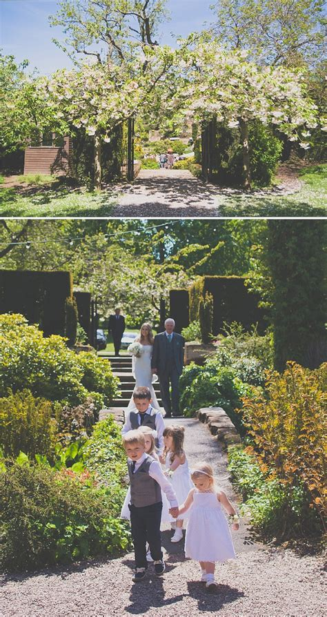 Ness Botanic Gardens An White Themed Wedding At The Ness Botanic Gardens With In Chagne From Blue By