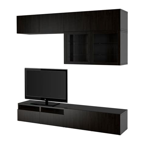 besta push opener best 197 tv storage combination glass doors lappviken