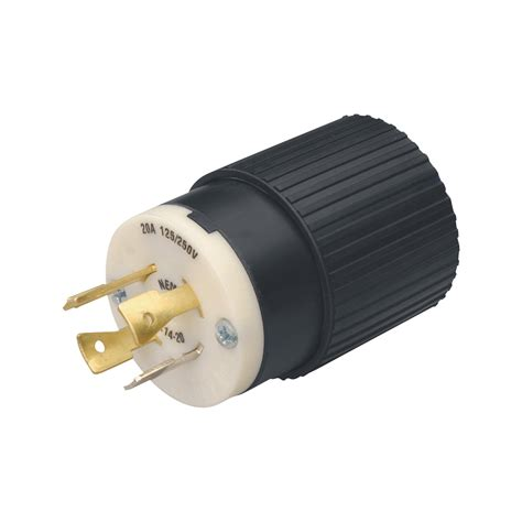 l with outlet reliance generator plug 20 amps 125 250 volts l14 20