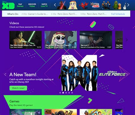 design xd games tv channel network web design trends inspiration