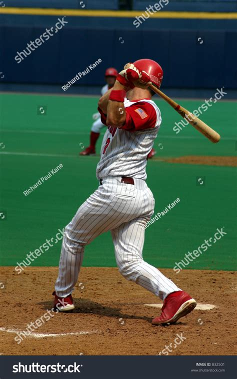 right handed baseball swing swing and a miss right handed baseball batter stock photo