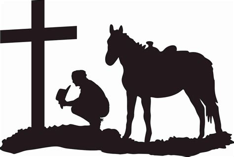 cross silhouette tattoo cowboy at the cross praying cowboy and kneeling at