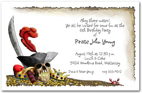Top 20 Pirate Birthday Party Invitations Theruntime Com Pirate Birthday Invitation Template