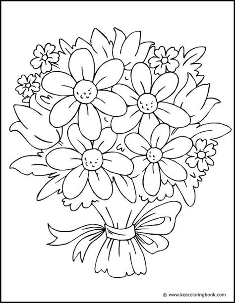 flowers coloring book pretty flower coloring pages flower coloring page