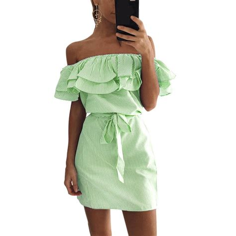 summer beach dresses for women summer beach women mini dress ruffle off shoulder party