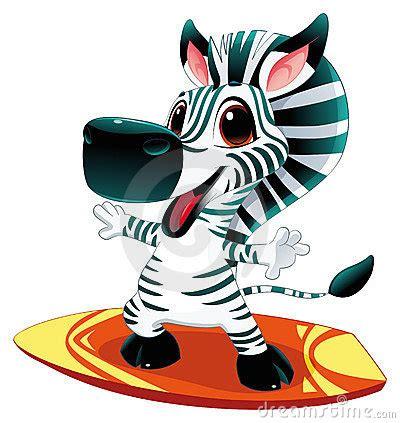 zebra pattern surfboard baby zebra with surf stock photos image 14183493