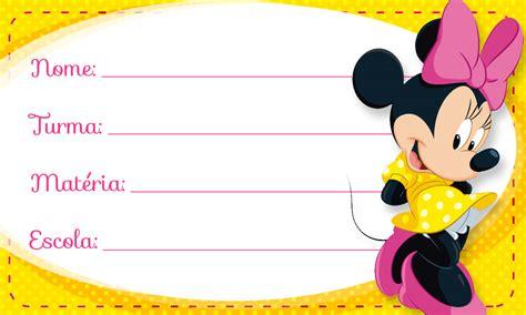 imagenes para etiquetas escolares juveniles etiqueta escolar personalizada minnie rosa fazendo a