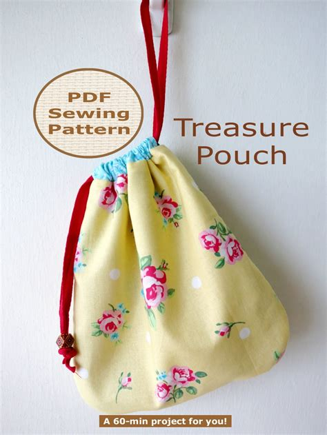 pattern pouch bag beginner 60 min pdf bag sewing pattern and tutorial