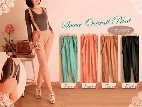 3pcs 75rb warung obral wob 0738 sweet overall ecer 79rb