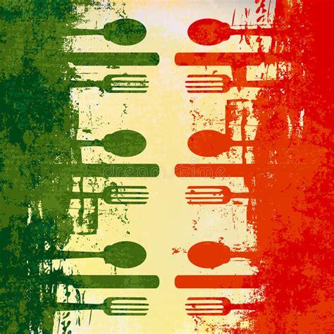 free italiano italian menu template stock vector illustration of detail