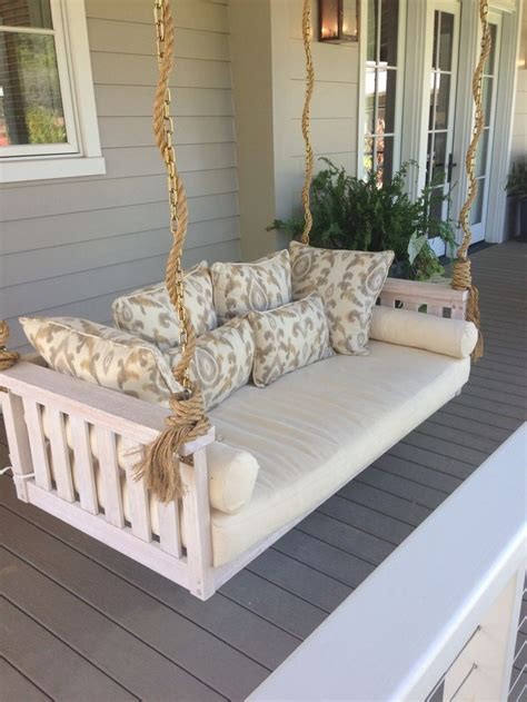 bed with swing porch swing bed outdoor livin pinterest porch