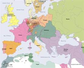 europe map at the beginning of the year 1800