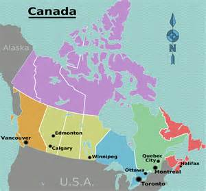 canada map showing provinces