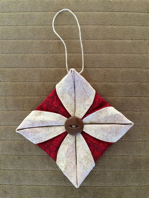corners of my life folded fabric ornament