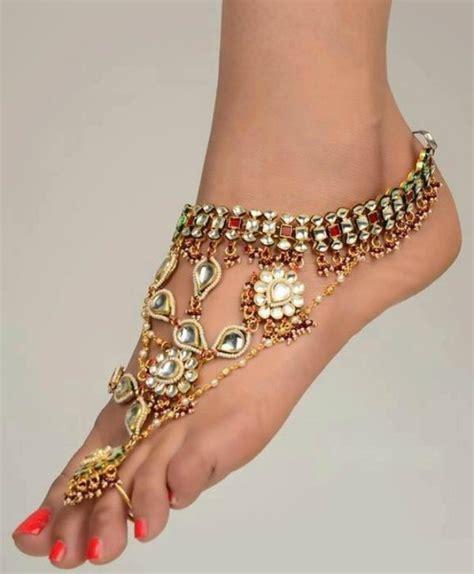 foot 7 dazzling foot jewelry pieces fullonwedding