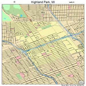 highland park michigan map 2638180