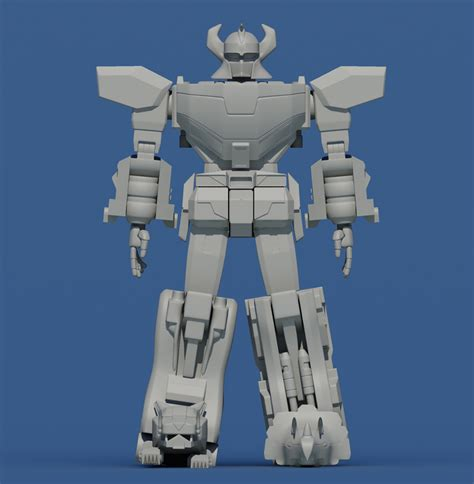 Megazord Papercraft - daizyujin megazord 01 by daizyujin4 on deviantart