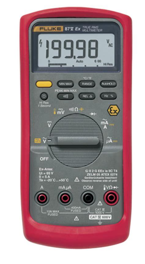 how to check capacitor with fluke 87 fluke 87v ex true rms multimeter multimeters instrumart