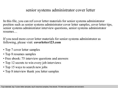 systems administrator cover letter windows system administrator resume pdf