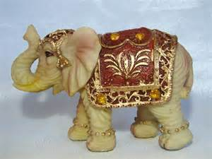 Elephant Figurines by Ivory Color Elephant Figurine