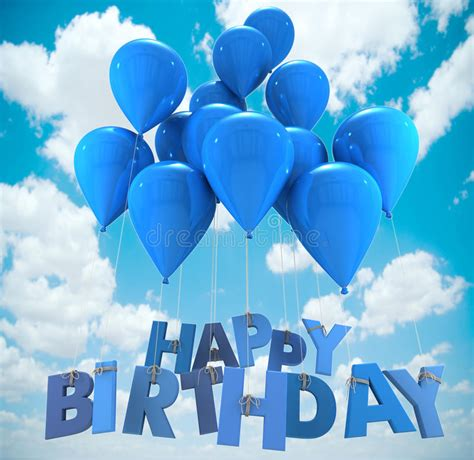 Balon Happy Birthday Car happy birthday balloons sky stock illustration
