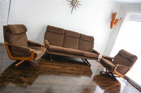 mid century tessa  swivel armchairs lounge suite