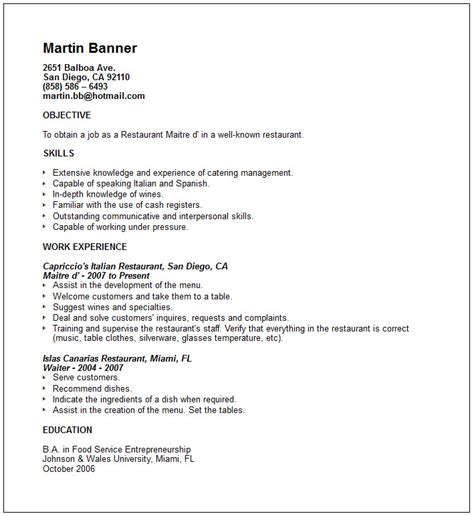 Travel Resume Objective Exles Travel And Tourism Industry Resume Exles
