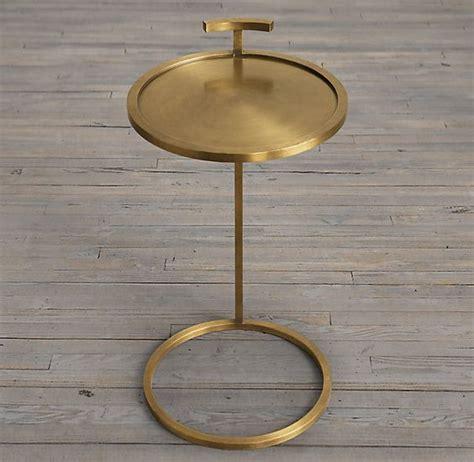 restoration hardware side table martini side table brass restoration hardware 260 our