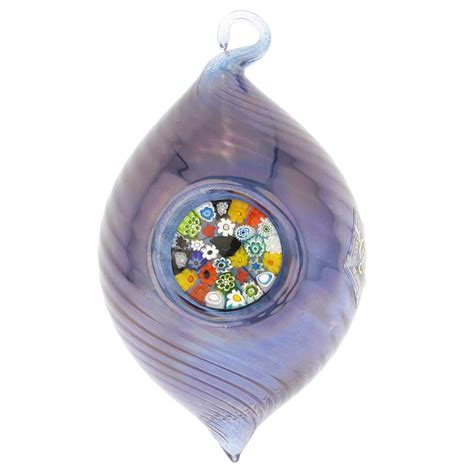 light blue christmas ornament murano glass ornaments