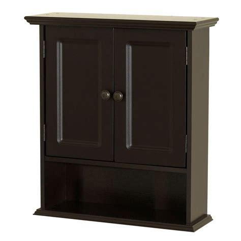 zenna home collette             bathroom storage wall cabinet  espresso
