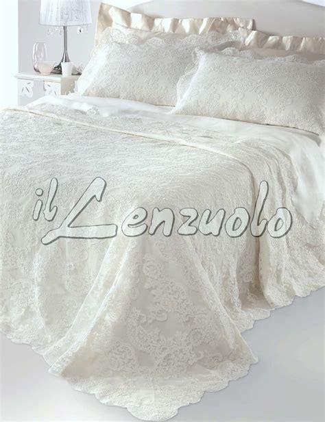 corredo letto corredo sposa copriletto e completo lenzuola con pizzo