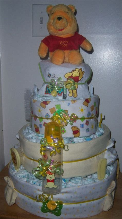 Winnie The Pooh Cake Baby Shower by Winnie The Pooh Baby Shower 4 Tier Cake