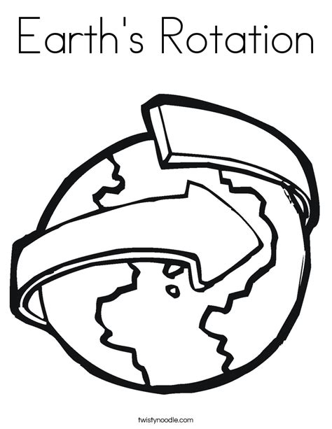 Earth Rotation Coloring Pages | rotation astronomy page 4 pics about space