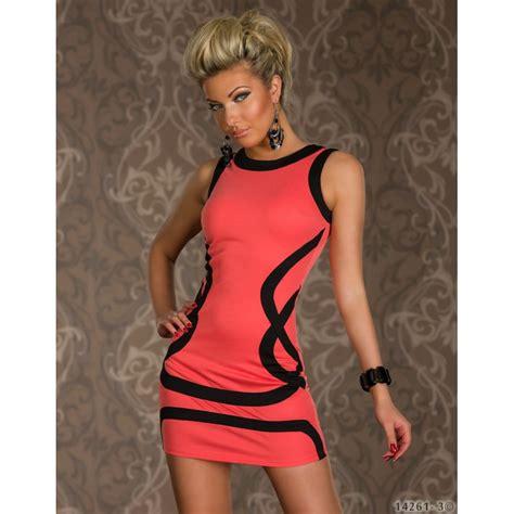 Mini Dress Batik Bodycon Hersya m plus size fashion black trim mini dress