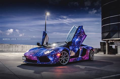 Lamborghini Aventador Roadster Wrapped in Galaxy Colors