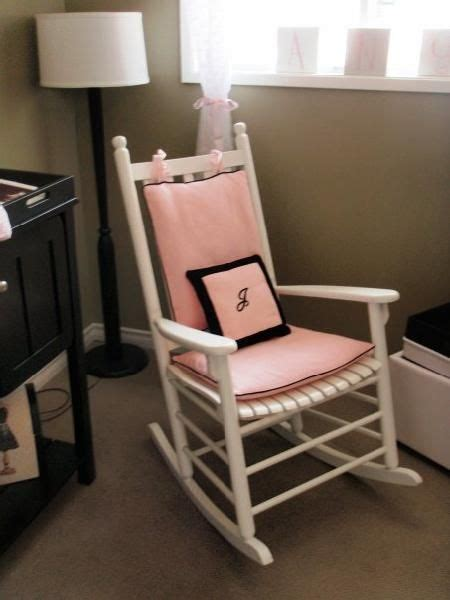 White Rocking Chairs For Nursery Rocking Chair Cushions For Nursery Nursery Friend S Nursery White Rocking Chair With Pink