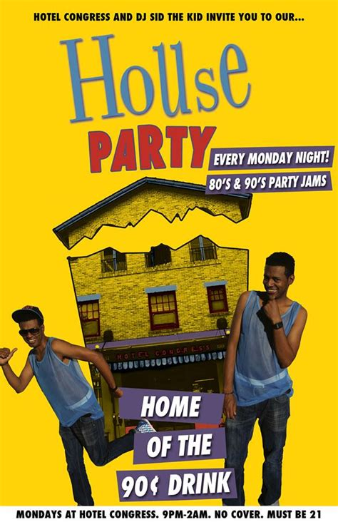 80s house party music 3rd annual prom night hotel congress