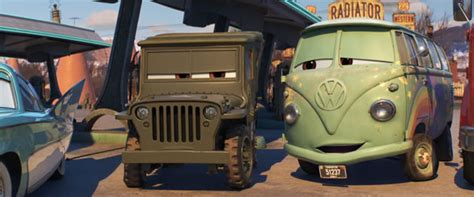 cars sarge and fillmore cars 3 disney movies
