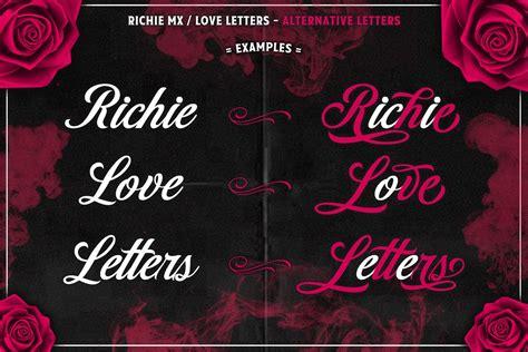 love letters script font befontscom