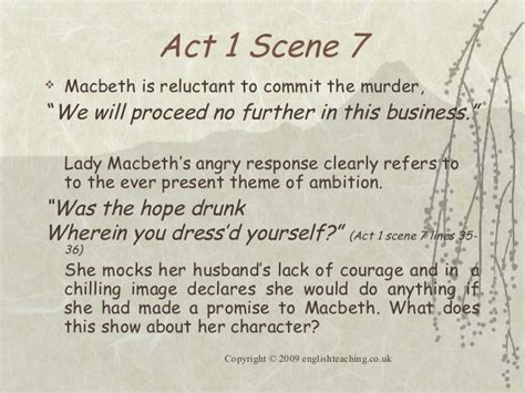 themes of macbeth in act 1 macbethessayplan
