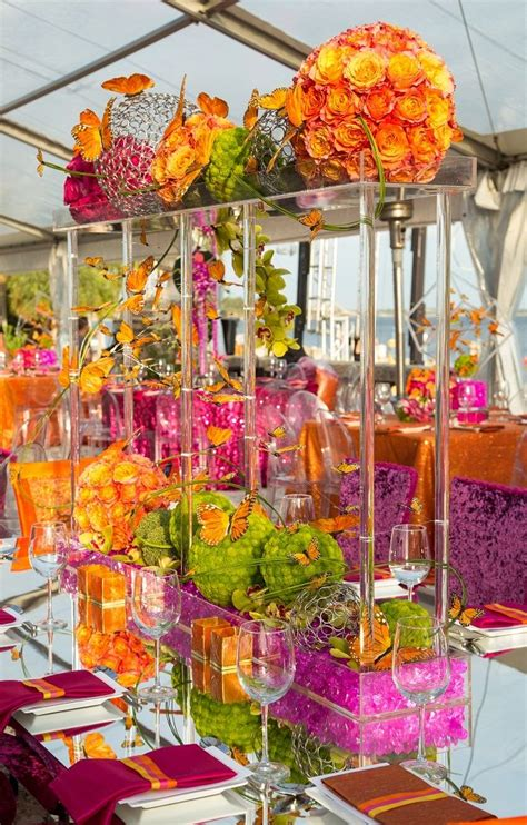 colorful table ls 461 best quot the top quot wedding reception flowers images